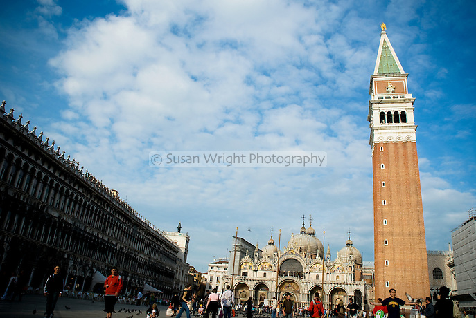 Piazza San Marco, Campanile San Marco and Basilica San Marco, Venice, Italy