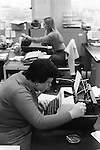 Office workers.  Women working in a Typing Pool the City of London 1978.