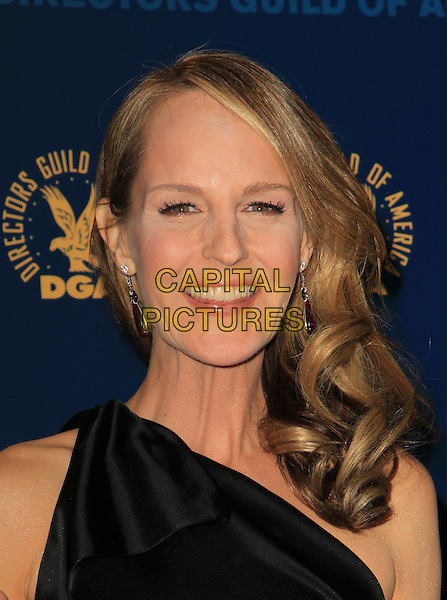 Helen Hunt.65th Annual Directors Guild Of America Awards - Press Room Held At The Ray Dolby Ballroom at Hollywood & Highland Center, Hollywood, California, USA..February 2nd, 2013.headshot portrait smiling black one shoulder    .CAP/ADM/KB.©Kevan Brooks/AdMedia/Capital Pictures.