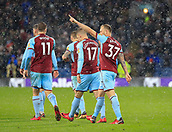 9th December 2017, Turf Moor, Burnley, England; EPL Premier League football, Burnley versus Watford; Scott Arfield of Burnley salutes the crowd after scoring the opening goal of the game in the 45th minute