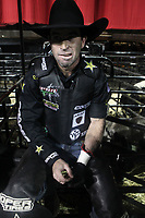 NEW YORK, NEW YORK- JANUARY 4: Professional Bull Rider Fabiano Vieira backstage, as New Yorkers & Tourists attend the 2019 Monster Energy Buck Off at The Garden, presented by Ariat held at Madison Square Garden on January 4, 2019 in New York City.  <br /> CAP/MPI43<br /> ©MPI43/Capital Pictures