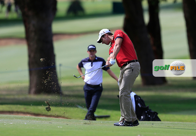 Andrea Pavan (ITA) on the 9th during Round 1 of the ISPS HANDA Perth International at the Lake Karrinyup Country Club on Thursday 23rd October 2014.<br /> Picture:  Thos Caffrey / www.golffile.ie