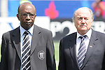 22 July 2007: CONCACAF President Jack Warner (l) and FIFA President Joseph (Sepp) Blatter (r). At the National Soccer Stadium, also known as BMO Field, in Toronto, Ontario, Canada. Chile's Under-20 Men's National Team defeated Austria's Under-20 Men's National Team 1-0 in the third place match of the FIFA U-20 World Cup Canada 2007 tournament.