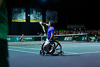 Rotterdam, The Netherlands, 14 Februari 2020, ABNAMRO World Tennis Tournament, Ahoy, <br /> Wheelchair Doubles: Stephane Houdet (FRA).<br /> Photo: www.tennisimages.com
