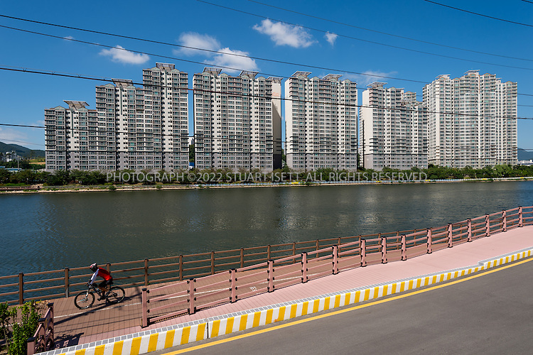 9/4/2013--Busan, South Korea<br /> <br /> Housing complex in Busan (Pusan).<br /> <br /> Photograph by Stuart Isett<br /> &copy;2013 Stuart Isett. All rights reserved.