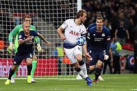 Harry Kane of Tottenham Hotspur and Daniel Schwaab of PSV Eindhoven during Tottenham Hotspur vs PSV Eindhoven, UEFA Champions League Football at Wembley Stadium on 6th November 2018