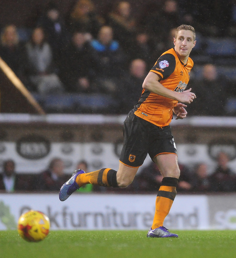 Hull City's Michael Dawson<br /> <br /> Photographer Chris Vaughan/CameraSport<br /> <br /> Football - The Football League Sky Bet Championship - Burnley v Hull City - Saturday 6th February 2016 - Turf Moor - Burnley <br /> <br /> &copy; CameraSport - 43 Linden Ave. Countesthorpe. Leicester. England. LE8 5PG - Tel: +44 (0) 116 277 4147 - admin@camerasport.com - www.camerasport.com