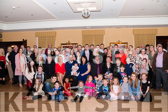 Mark Moriarty and Faye O'Flaherty-Moriarty pictured with Tracy O'Flaherty surrounded by family and friends at The Manor Inn, Killorglin to celebrate the Christening of baby Sophia.