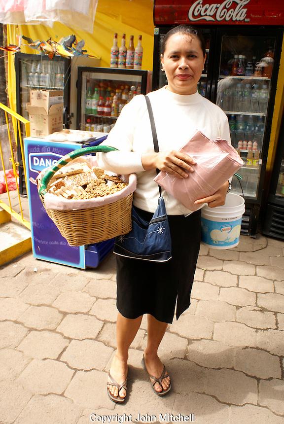 Woman selling traditional sweets in the village of La Antigua, Veracruz