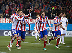 Atletico de Madrid´s team celebrates a goal during the king´s cup football match with Atletico de Madrid vs Real Madrid at the Vicente Calderon stadium in Madrid on Jaunary 7, 2015. DP by Photocall3000.
