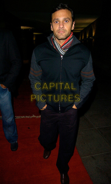 MARK RAMPRAKASH.at Alesha Dixon's End of Year Party at Kenza restaurant..29th December 2007 London, England.full length black coat jacket hands in pockets scarf .CAP/CAN.©Can Nguyen/Capital Pictures.