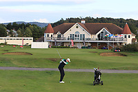 Robin Dawson from Ireland on the 18th fairway during Round 3 Singles of the Men's Home Internationals 2018 at Conwy Golf Club, Conwy, Wales on Friday 14th September 2018.<br /> Picture: Thos Caffrey / Golffile<br /> <br /> All photo usage must carry mandatory copyright credit (&copy; Golffile | Thos Caffrey)