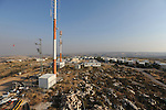 An overview of the unauthorized Israeli outpost of Migron, West Bank. Migron was first established as a base for communication antennas, and later evolved into a settlement.