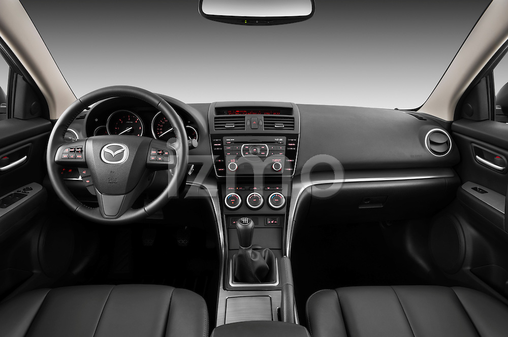 Straight dashboard view of a 2011 Mazda 6 Active Wagon.
