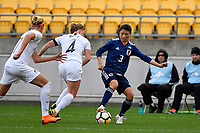 Japan&rsquo;s Aya Sameshima in action during the  International Football - Football Ferns v Japan  at Westpac Stadium, Wellington, New Zealand on Sunday 10 June 2018.<br /> Photo by Masanori Udagawa. <br /> www.photowellington.photoshelter.com