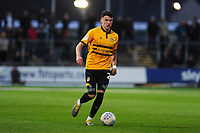 Regan Poole of Newport County in action during the Sky Bet League Two Play-off Semi Final: First Leg match between Newport County and Mansfield Town at Rodney Parade in Newport, Wales, UK.  Thursday 09 May 2019