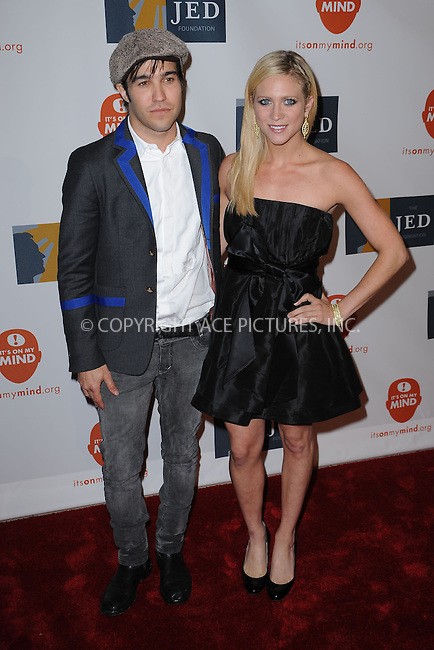WWW.ACEPIXS.COM . . . . . ....June 11 2009, New York city....Musician Pete Wentz and actress Brittany Snow at the 8th Annual Jed Foundation Gala at Guastavino's on June 11 2009 in New York City.....Please byline: KRISTIN CALLAHAN - ACEPIXS.COM.. . . . . . ..Ace Pictures, Inc:  ..tel: (212) 243 8787 or (646) 769 0430..e-mail: info@acepixs.com..web: http://www.acepixs.com
