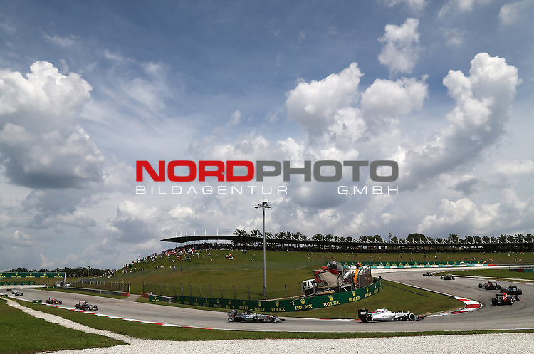 29.03.2011, Sepang-International-Circuit, Malaysia, MAL , Gro&szlig;er Preis von Malaysia / Kuala Lumpur,   im Bild Felipe Massa (BRA), Williams GP - Nico Rosberg (GER), Mercedes GP<br /> for the complete Middle East, Austria &amp; Germany Media usage only!<br />  Foto &copy; nph / Mathis