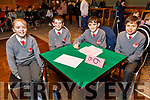 Drumclough NS Listowel students Cara Leahy, Ronan Kelly, Joesph McElligott and Marcus Leahy at the Regional finals of the Chapter 23 Credit Union quiz in the Ballyroe Heights Hotel on Sunday