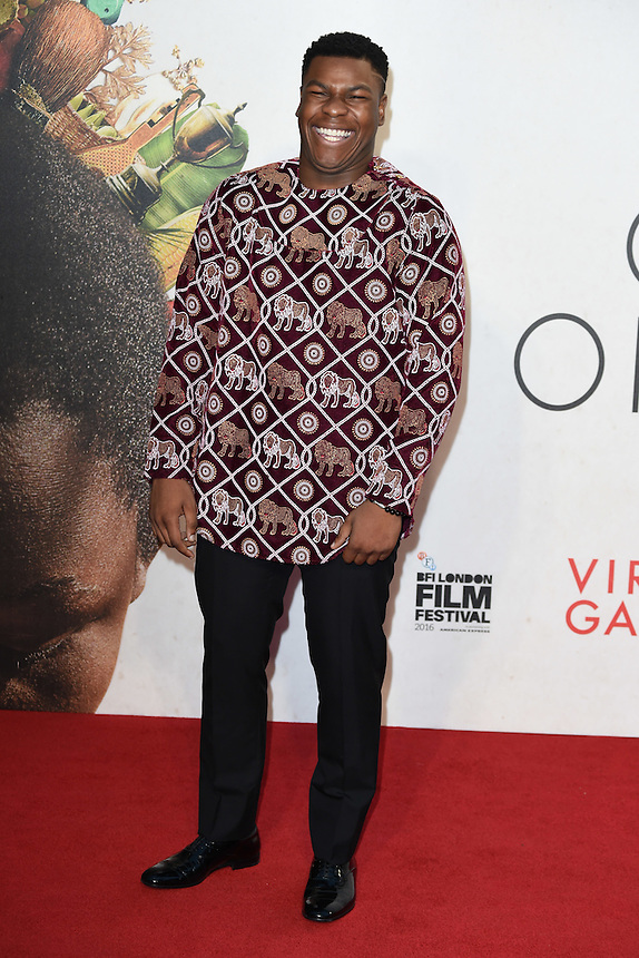 """John Boyega<br /> at the London Film Festival 2016 premiere of """"Queen of Katwe"""" at the Odeon Leicester Square, London.<br /> <br /> <br /> ©Ash Knotek  D3168  09/10/2016"""