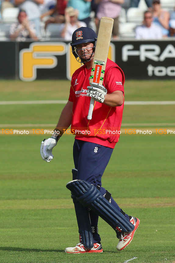 Jesse Ryder of Essex celebrates scoring a century, 100 runs during Essex Eagles vs Surrey, Royal London One-Day Cup Cricket at the Essex County Ground on 24th July 2016