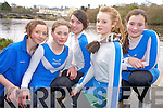 Kerri Fay, Grace Fleming, Aoife Ross, Clodagh Darmody and Emma Murphy, Killorglin Rowing Club.  pictured at the Kerry Head of the River competition in Killorglin on Saturday morning.......