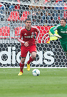 20 April 2013: Toronto FC defender Logan Emory #2 in action during an MLS game between the Houston Dynamo and Toronto FC at BMO Field in Toronto, Ontario Canada..The game ended in a 1-1 draw...