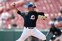 April 25, 2009:  Relief Pitcher Elmer Dessens of the Buffalo Bisons, International League Class-AAA affiliate of the New York Mets, during a game at the Coca-Cola Field in Buffalo, NY.  Photo by:  Mike Janes/Four Seam Images