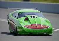 Jun. 15, 2012; Bristol, TN, USA: NHRA pro mod driver Chip King during qualifying for the Thunder Valley Nationals at Bristol Dragway. Mandatory Credit: Mark J. Rebilas-