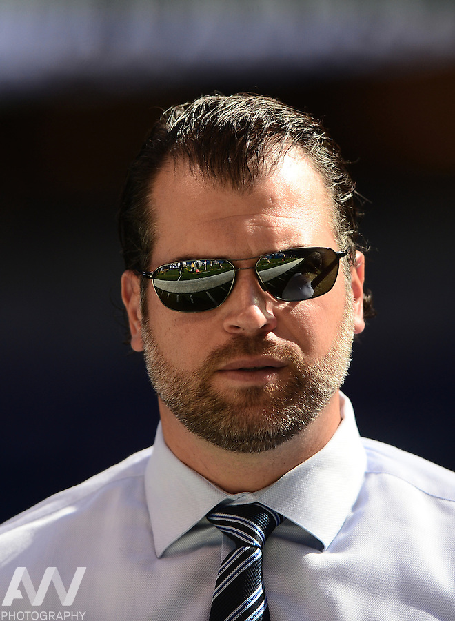 Sep 28, 2014; Indianapolis, IN, USA; Indianapolis Colts general manager Ryan Grigson against the at Lucas Oil Stadium. Mandatory Credit: Andrew Weber-USA TODAY Sports
