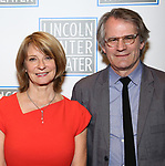 Mona Juul and Bartlett Sher attend the Opening Night Performance press reception for the Lincoln Center Theater production of 'Oslo' at the Vivian Beaumont Theater on April 13, 2017 in New York City.