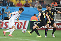 (L-R) Lee Chung-Yong (KOR), Nicolas Lombaerts, Daniel Van Buyten (BEL),<br /> JUNE 26, 2014 - Football / Soccer :<br /> FIFA World Cup Brazil 2014 Group H match between South Korea 0-1 Belgium at Arena de Sao Paulo in Sao Paulo, Brazil. (Photo by SONG Seak-In/AFLO)