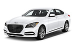 2019 Genesis G80 RWD 4 Door Sedan angular front stock photos of front three quarter view
