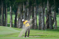 Anirban Lahiri of Indea in act at the final round of the Hong Kong Open golf tournament in Fanling Golf Club, Hong Kong,  25 Oct., 2015