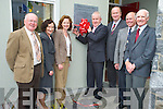 Minister Jimmy Denihan cuts the ribbon at Killarney Community College on Monday to mark the 25th anniversary of the school on the present site. Also pictured are Mike Favier, past principal, Ann O'Dwyer, CEO Kes, Fiona O'Brien, principal, Jim Finucane, chairman KES, Eamon Fitzgerald past principal and Tim Healy, past principal.