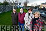 Residents of Castlecountess and Castle Demesne Tralee, who are looking to have a park near the entrance of the estate to be named after the late Danno Keeffe Kerry Footballer, from left Gabriel Curran, Eamon Young Cllr Norma Foley and Maura O'Keeffe Danno's daughter.