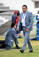 TUNJA -COLOMBIA, 01-03-2017. Diego Andrés Corredor técnico de Patriotas FC gesticula durante partido contra Independiente Medellín por la fecha 7 de la Liga Águila I 2017 realizado en el estadio La Independencia de Tunja. / Diego Andrés Corredor coach of Patriotas FC gestures during match against Independiente Medellin for the date 7 of Aguila League I 2017 played at La Independencia stadium in Tunja. Photo: VizzorImage/César Melgarejo/Cont