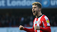 Emiliano Marcondes celebrates Brentford's victory at the final whistle during Brentford vs Middlesbrough, Sky Bet EFL Championship Football at Griffin Park on 8th February 2020