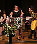 Beanie Feldstein, Jennifer Krasinski and Susan Soon He Stanton on stage at the The Lilly Awards  at Playwrights Horizons on May 22, 2017 in New York City.