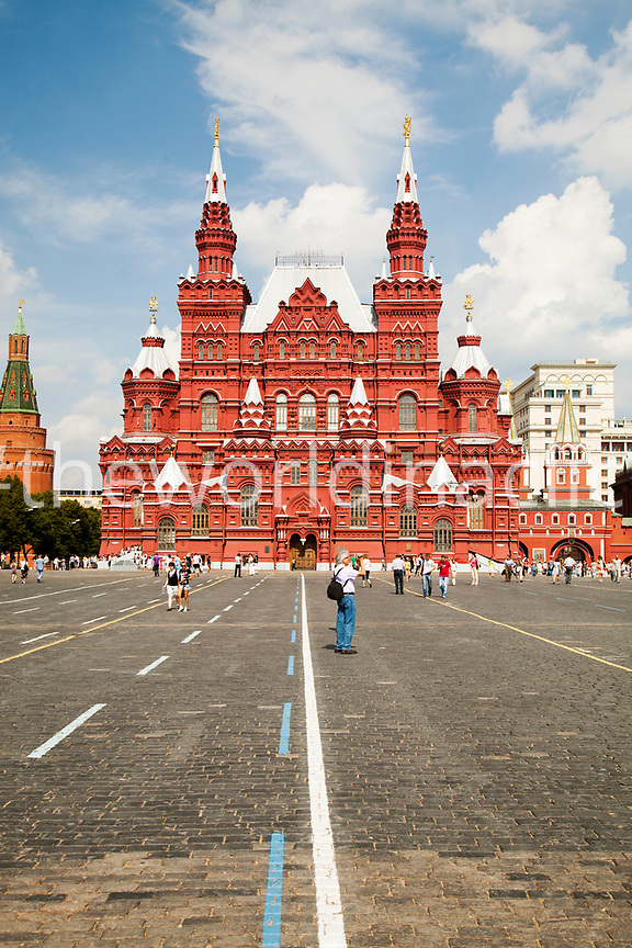 RUSSIA, Moscow. A view of Red Square and the State Historical Museum.