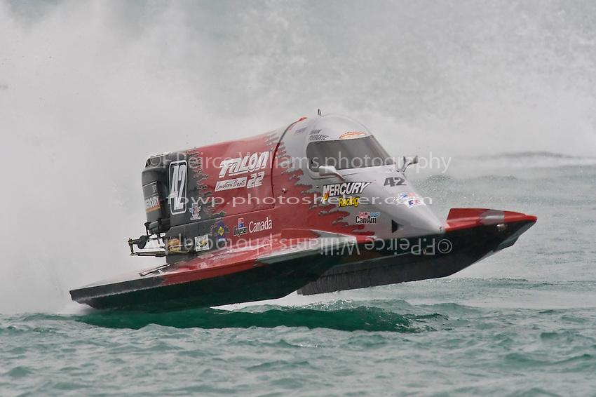 8-10 August 2008  Algonac, MI USA.Shaun Torrente's Grand Prix/Mercury.©F.Peirce Williams 2008