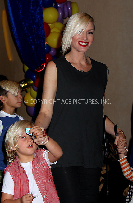 WWW.ACEPIXS.COM<br /> <br /> September 29 2013, LA<br /> <br /> Gwen Stefani takes her sons Kingston and Zuma to the cinema on September 29 2013 in Hollywood, CA<br /> <br /> By Line: Nancy Rivera/ACE Pictures<br /> <br /> <br /> ACE Pictures, Inc.<br /> tel: 646 769 0430<br /> Email: info@acepixs.com<br /> www.acepixs.com