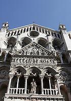 La facciata della Cattedrale di San Giorgio Martire a Ferrara.<br /> An exterior view of the Cathedral of St. George the Martyr, in Ferrara.<br /> UPDATE IMAGES PRESS/Riccardo De Luca