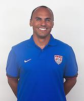 SEAL BEACH, California - September 9, 2013: The U.S. Beach Soccer National Team portraits at the Seal Beach training Center.
