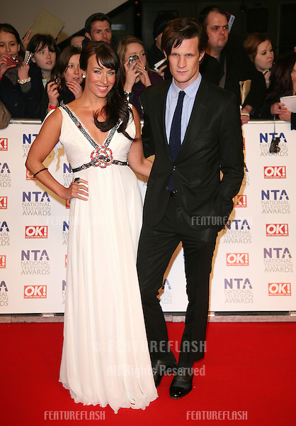 Matt Smith arriving for the National Television Awards, O2, London. 25/01/2012 Picture by: Alexandra Glen / Featureflash