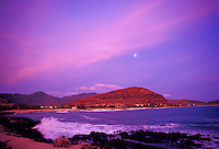 Pokai bay at sunset, Waianae, leeward or westside of Oahu
