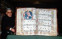 Gesangbuch, Kloster Yuso, San Millán de la Cogolla, La Rioja, Spanien, Unesco-Weltkulturerbe