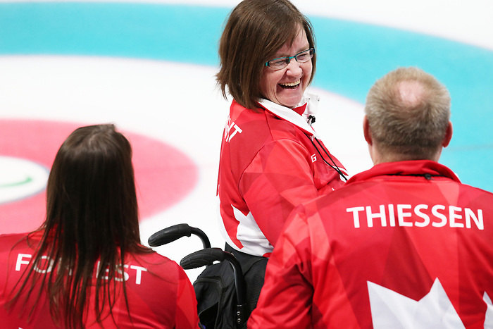 Pyeongchang, Korea, 15/3/2018-Marie Wright, compete in the  wheelchair curling during the 2018 Paralympic Games in PyeongChang.  Photo Scott Grant/Canadian Paralympic Committee.