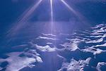 rays of sunlight on snow, Glacier Peak Wilderness Area, Washington State, global warming,