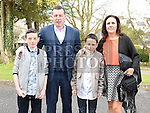 Ben Patterson who was confirmed at the Church of the Immaculate Conception Termonfeckin with his parents Derek and Maria and  brother Adam. Photo:Colin Bell/pressphotos.ie